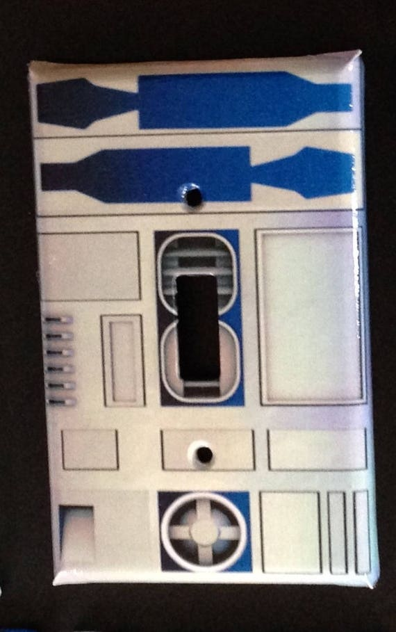 R2 D2 Turned Into A Light Switch Light Switch Cover Plate Etsy