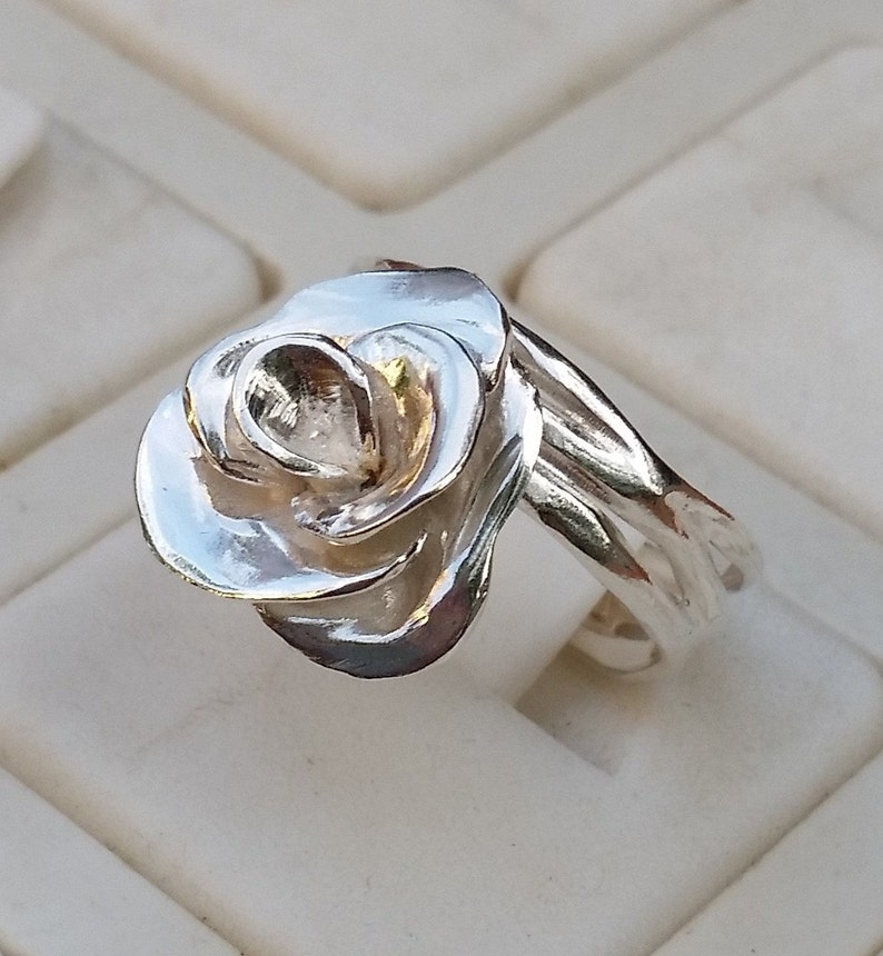 Promise Silver Ring Friendship Silver Ring Flower Silver Ring Bridal Ring,,Valentine gift Statement Silver Ring Handmade Silver Ring