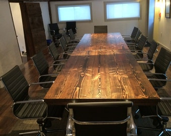Industrial Conference Table Industrial Table With Metal Etsy