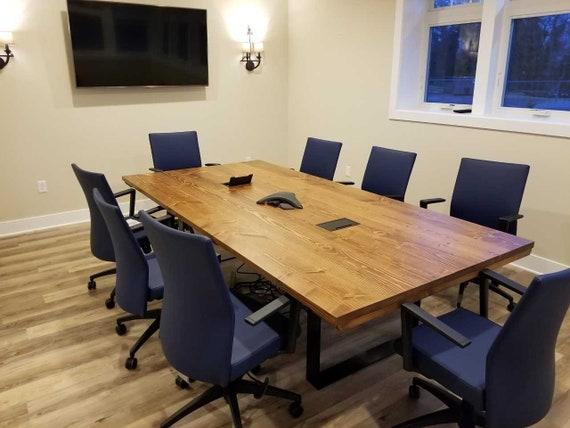 Ft Steel Pedestal Conference Table Modern Farmhouse Table Etsy - Farmhouse conference table