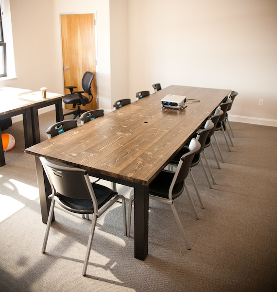 Ft Solid Wood Farmhouse Conference Table Farmhouse Dining Etsy - Farmhouse conference table