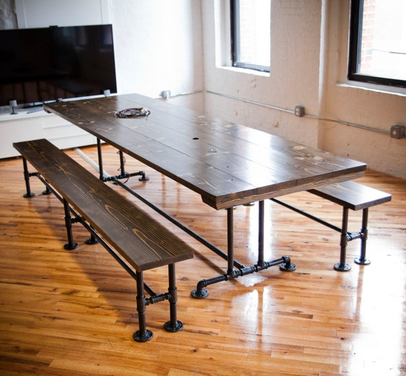 Industrial Conference Table Industrial Table With Metal Etsy - Industrial conference room table