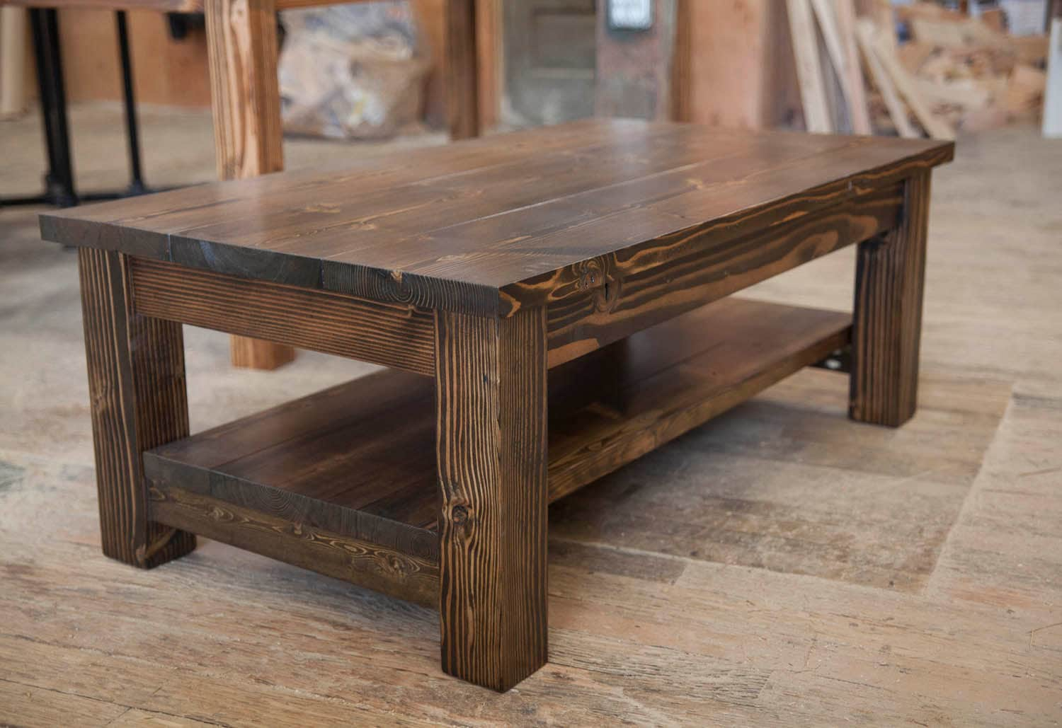 Rustic Coffee Table.Farmhouse Coffee Table Rustic Coffee Table Solid Wood Farmhouse Coffee Table Built To Order