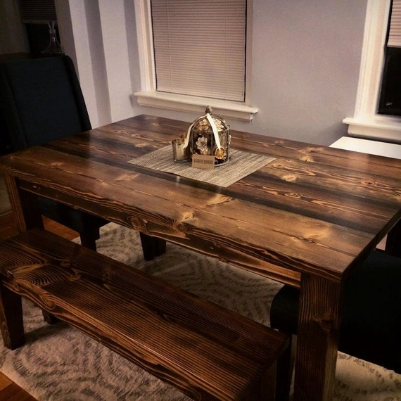 Fine 60 Farmhouse Table Solid Wood Farmhouse Dining Table Farmhouse Kitchen Table Built To Order Rustic Harvest Table Alphanode Cool Chair Designs And Ideas Alphanodeonline