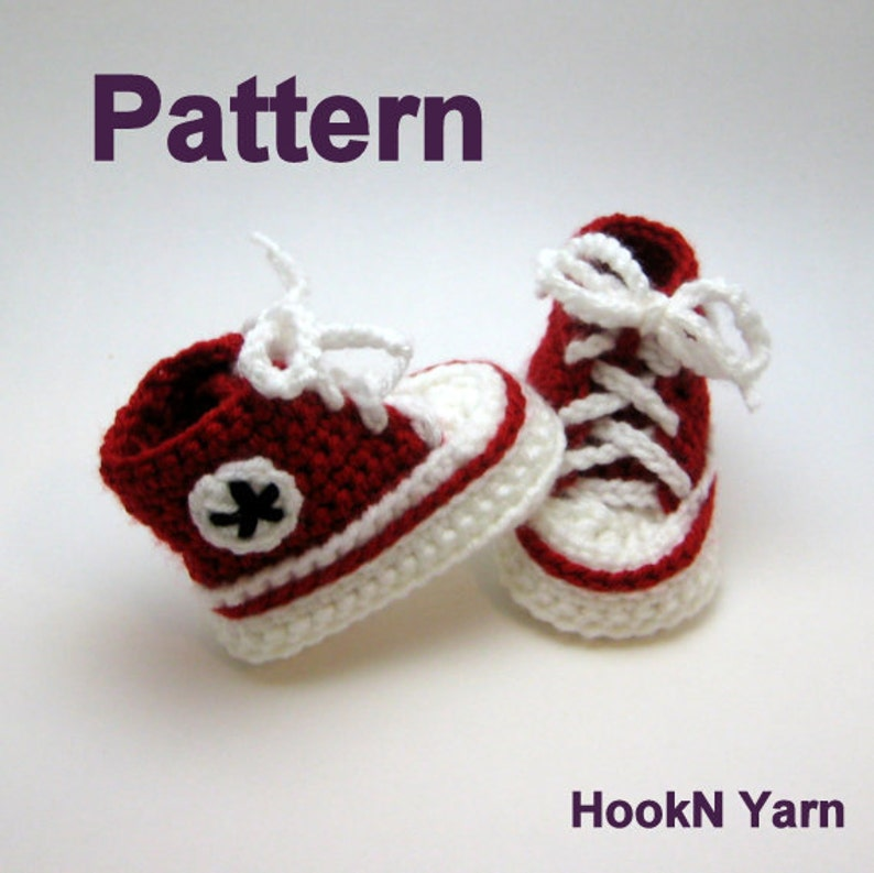 b4ed0e82271 Baby Converse Pattern Converse Booties pattern baby booties | Etsy