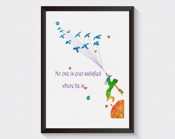 Little prince Inspirational wall art Petit Prince Fox Quote baby shower gift Giclee Print Wall Decor prince room decor baby room