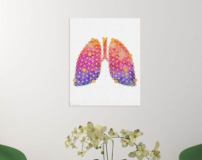 Medical Art, Respiratory System, Pulmonologist Gift, Anatomical Lungs Art, Doctor Office Décor, Doctor Gift, Medical Student