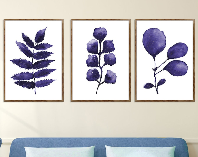 Eucalyptus Prints, Gallery Wall Set, Eucalyptus Set Of 3, Living Room Wall Art, Wall Art, Eucalyptus Painting