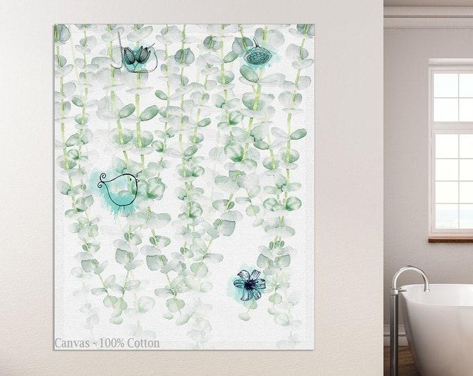 Fern Print, Leaf Wall Art Print, Minimalist Botanical, Eucalyptus Poster, Wall Art, Modern Botanical, Living Room Décor