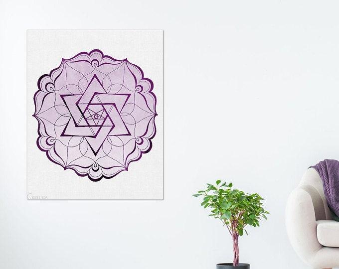 Mandala Art Print, Mandala Wall Art, spiritual art, Geometric Wall Art, Geometric Print, Home Decor, Yoga Studio Décor
