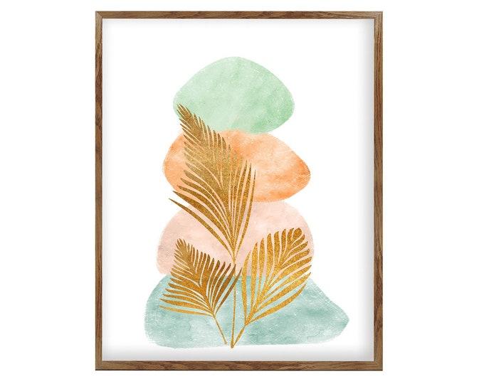Beach Pebbles, Wall Art, Nature Art, Pebble Art, Beach Art, Abstract Art, Modern Art, Zen Decoration, Scandinavian Poster