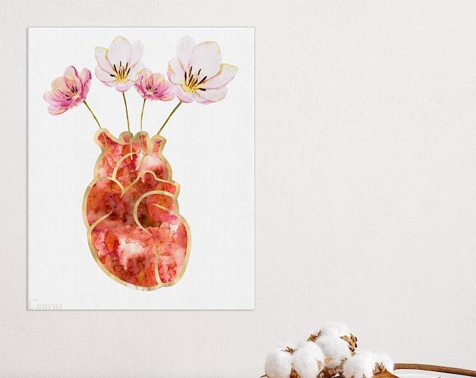 Heart Anatomy Print, Anatomy Art Print, Heart Anatomical Poster, Surgery Art, Cardiology Gift, Med Student Gift