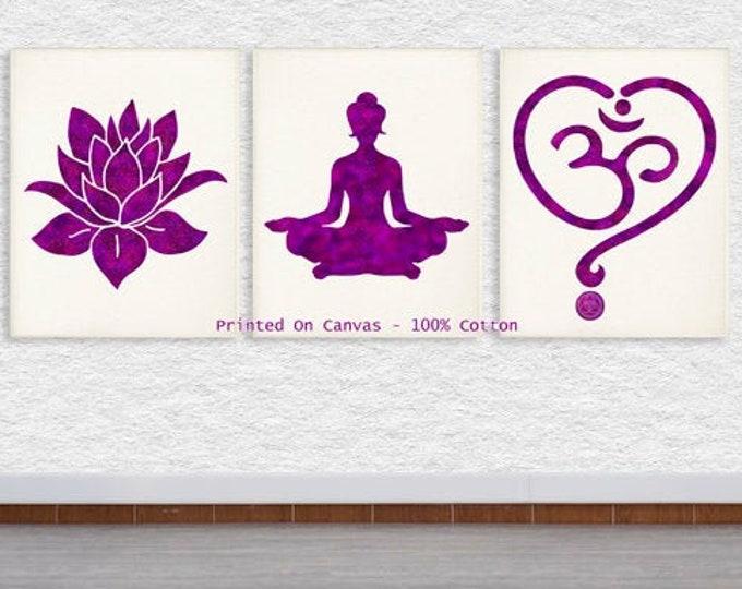 Yoga Studio Decor, Wall Decor Living Room, Art Print Meditation Room Wall Art, Zen Art, Yoga Bedroom Decor Namaste Gift Yoga Artwork Posters