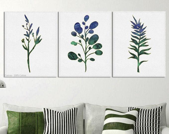 Prints Set, Wall Art Set, Eucalyptus Print, Set of 3 Prints, Botanical Prints, Wall Art, Farmhouse Décor