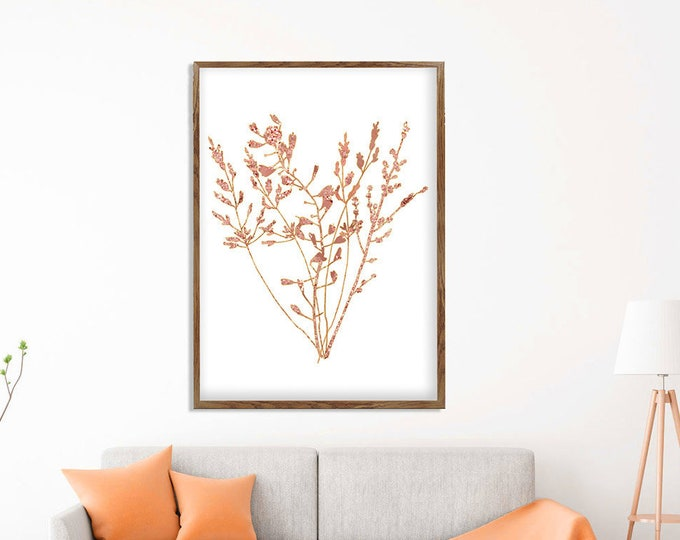 Abstract Floral Art, Vintage Flower, Bouquet Painting, Still Life, Rose Gold Painting, Flower Canvas, Floral Poster, Office Decoration