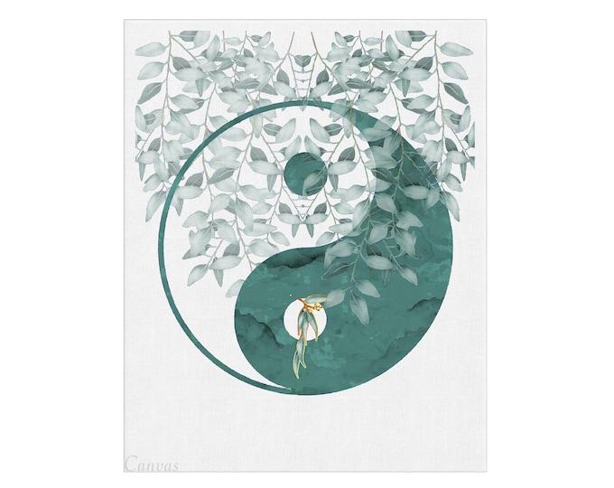 Yin Yang Décor, Yin Yang Print, Yin Yang Poster, Zen Art, Yoga Wall Art, Yoga Studio Décor, Meditation Art, Mindfulness Wall Art