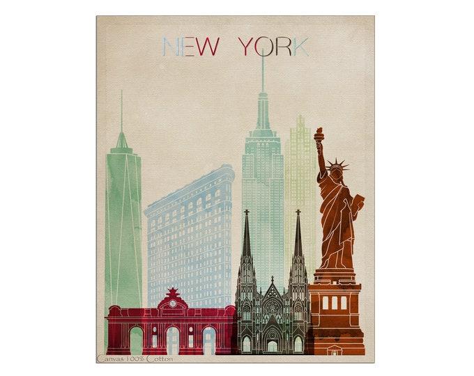 New York Poster, New York Skyline, Print, New York City, New York Art, Wall Art, City Print, Travel Gift, Office Décor