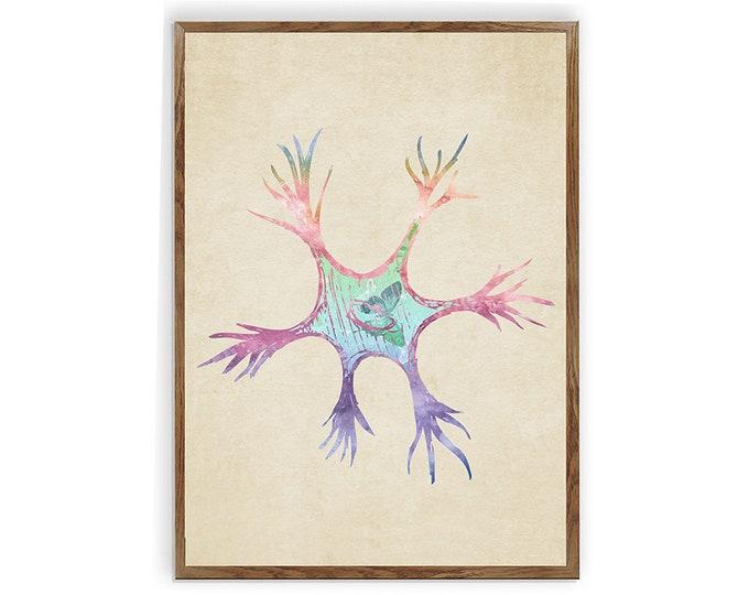 Neuron Art. Anatomy Vintage. Brain Art. Doctor Office Decor. Neuroscience. Medical Clinic Decor. Neurology Wall Art. Medical Student Gift.