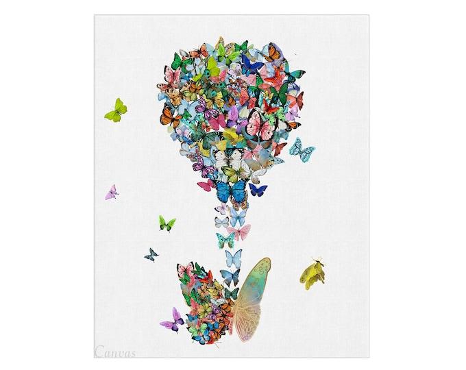 Butterfly Wall Art, Art Print, Mixed Media Artwork, Butterfly Prints, Modern Wall Art, Prints Illustrations, Wall Décor