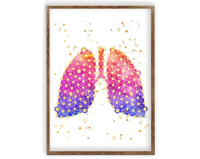 Anatomical Lungs Art, Medical Art, Respiratory System, Pulmonologist Gift, Doctor Office Décor, Doctor Gift, Medical Student, Nurse Gift