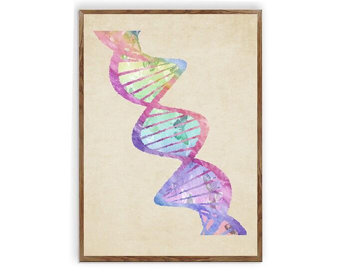 DNA Tree, Science Print, DNA Art, Biology Art Print, Medical Wall Art, Office Décor, Genetics Print