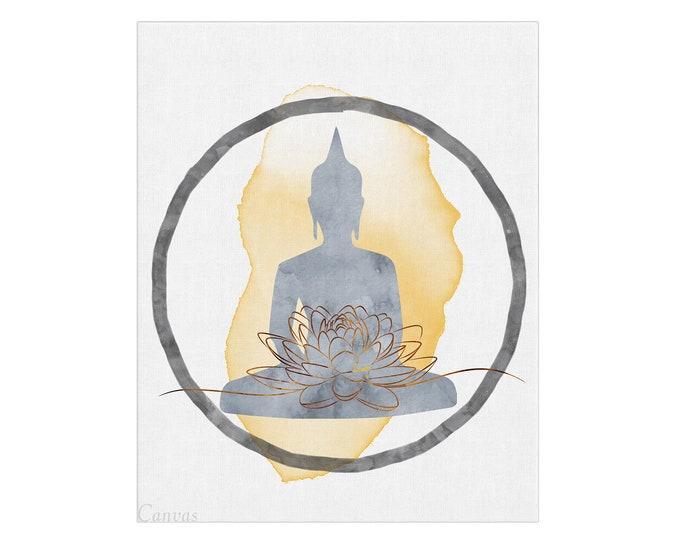 Buddha wall art, Boho Décor, Wall Art Print, Wall Art, Black and White Print, Yoga Instructor Gift, Studio Décor,  Spiritual Poster