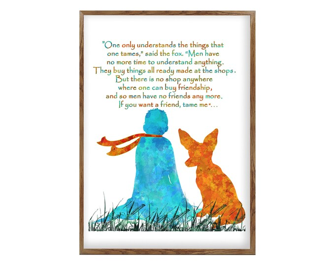 Friendship Quote, The Little Prince, Inspirational Quote Prints, Nursery Prints, Wall Art, House Décor Print