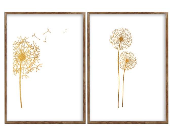 Large Wall Art, Dandelion Art, Dandelion Art Print, Flower Print, Wall Art, Bedroom Wall Decor, Dandelions