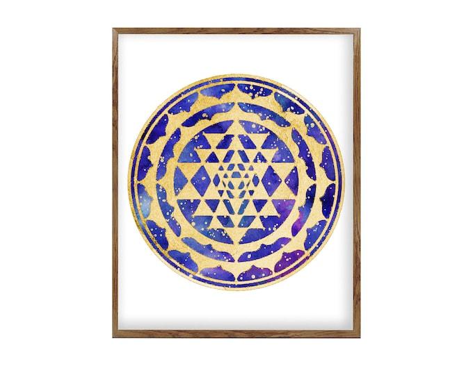 Spiritual Mandala Wall Art Print | Mandala Art Print | Mandala Art  | Hindu Art Print | Spiritual Art | Meditation Room Art