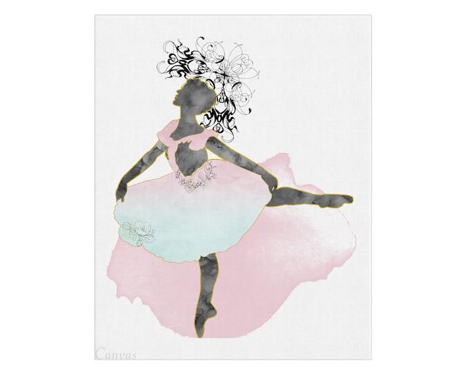 Ballerina Wall Art, Watercolor Print, Ballet Dancer Gift, Ballerina Nursery Art, Ballerina Print, Girls Room, Studio Décor