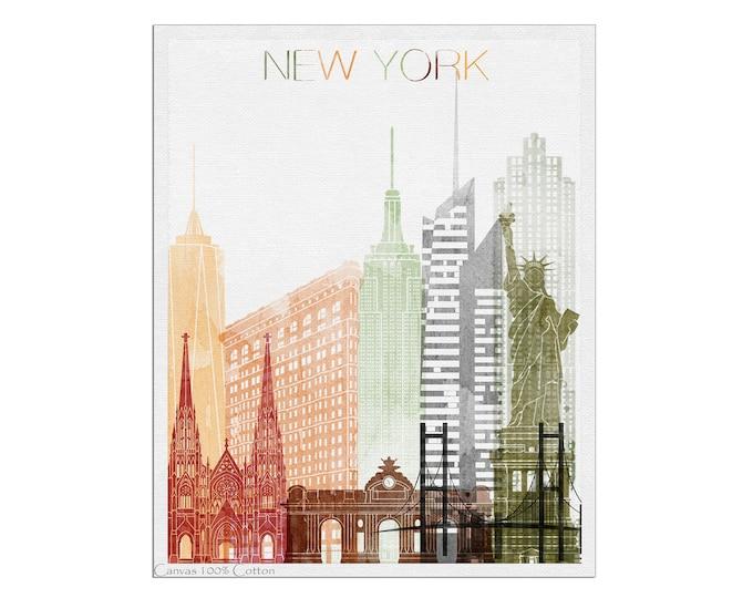 New York Poster, New York Skyline, New York City, Wall Art, New York Print, New York Art, City Print
