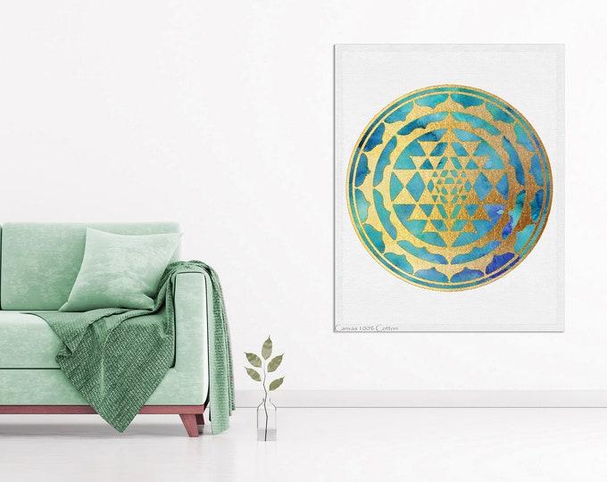 Mandala, Sacred Geometry Art, Meditation Room, Living Room Wall Art, Yoga Poster, Mandala Art, New Home Gift, Bohemian Décor