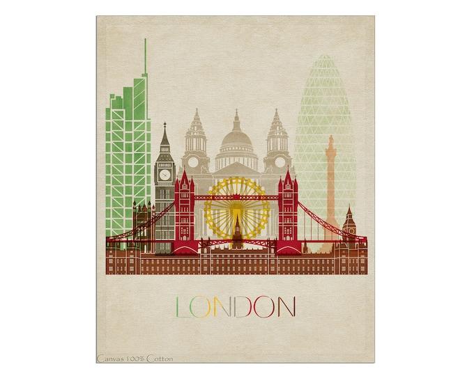 London Print, London Poster, Wall Art, London Skyline, London Art, Travel Poster, City Prints, London Gift