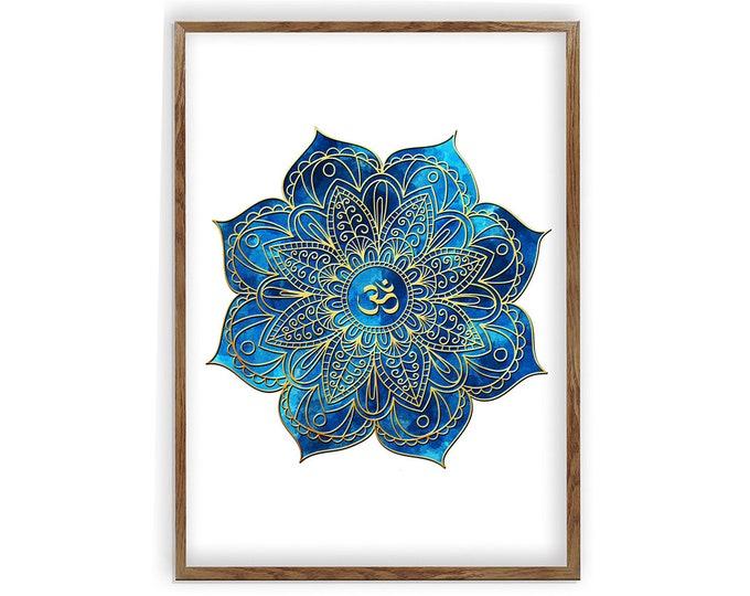 Mandala, Zen Wall Art, Meditation Art, Mindfulness Décor, Wall Hanging, Mandala Art, Gift for Therapist, Wall Art