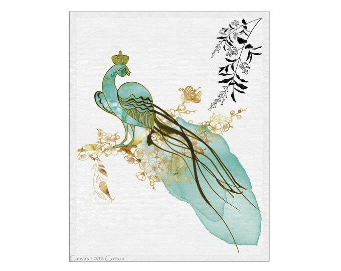 Peacock Painting, Fine Art Print, Animal Lover Art, Bird Illustration, Home Décor, Wall Art, Bird Art, Gift Idea