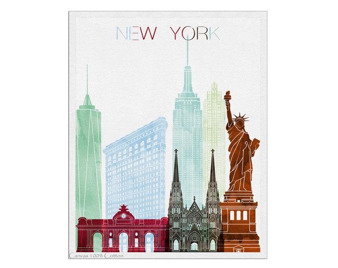 New York Skyline, New York City, New York Poster, Wall Art, New York Print, New York Art, City Print