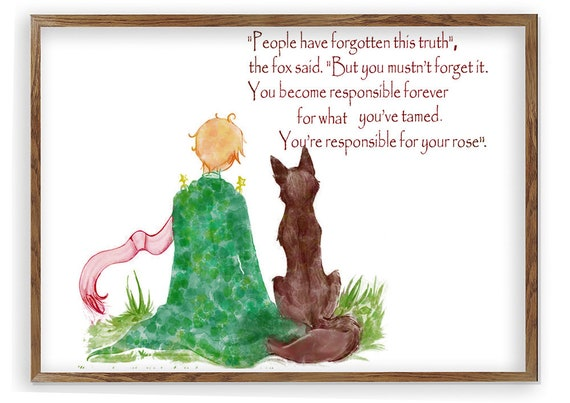 The Little Prince Fox Quote Inspirational Quote Le Petit Etsy