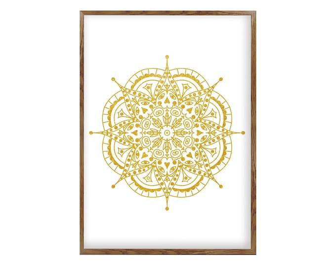 Mandala, Living Room Wall Hanging, Moroccan Décor, Golden Décor, Bohemian Wall Décor, Housewarming Gift
