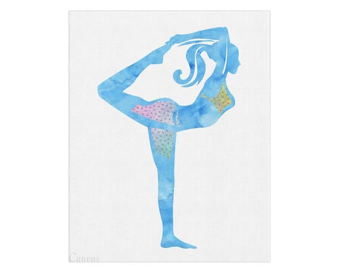 Yoga Art Print, Pose Poster, Teacher Gift, Pilates Illustration, Dancer Pose, Mindfulness Art, Studio Décor, Spiritual Art