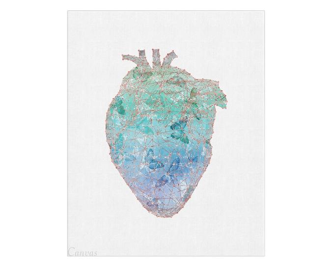 Wall Art Print, Heart Print, Anatomy Art, Heart Illustration, Human Heart Print, Medical Art, Graduation Gift, Anatomical Heart