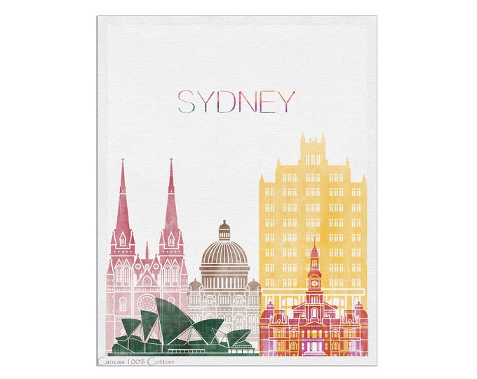 Sydney Poster, Print, Sydney Skyline, Wall Art, Australia Cityscape, City Posters, Travel Gift, Office Décor
