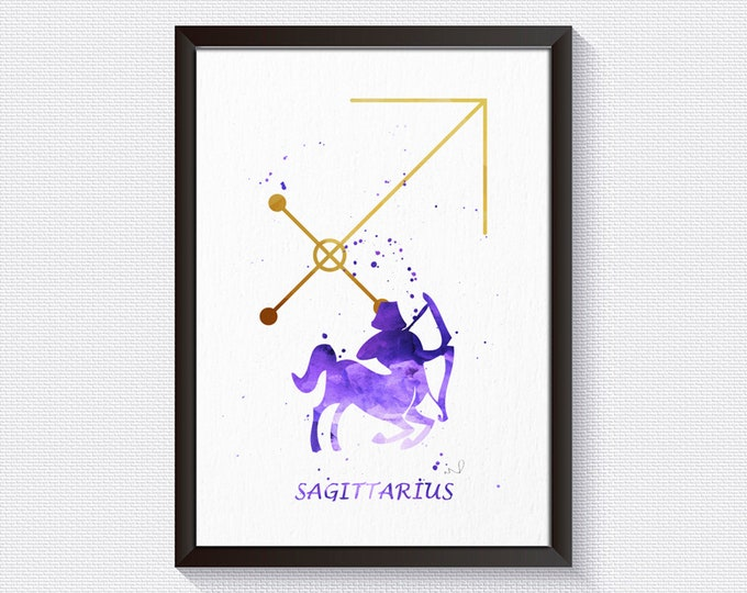Zodiac Print, Celestial Art, Sagittarius Zodiac, Zodiac Art Series, Sagittarius Art, Wall Art, Sagittarius Print, Horoscope Wall Art