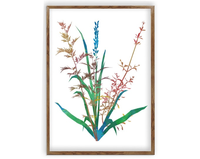 Watercolor Floral Print Art, Floral Painting, Wall Art, Watercolor Flower, Flower Wall Art, Botanical Print, Botanical Art, Canvas Wall Art