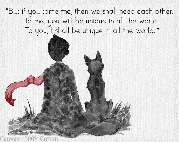 Little Prince, Literature Poster, Petit Prince, Inspirational Quote, Friend Gift, Wall Art, Black White Décor