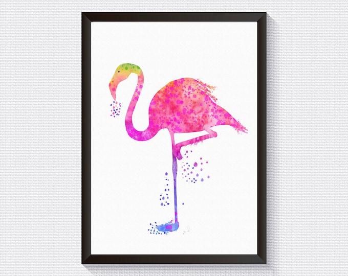Flamingo Print, Pink Wall Décor, Rainbow Wall Décor, Flamingo, Nursery Décor, Print, Poster, Wall Art, Home Gallery, Wall Print, Home Print
