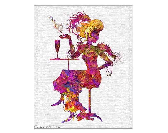 Woman Illustration, Art Nouveau Lady, Art Print, Minimalist Art, Wall Art, Gift For Her