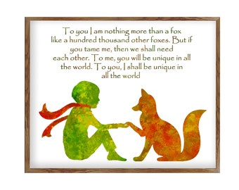 The Little Prince, Inspirational Quote Prints, Nursery Prints, Original  Art, Watercolor Print, Le Petit Prince, House Décor Print