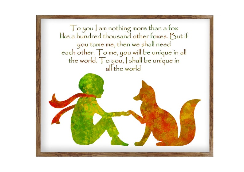 The Little Prince Inspirational Quote Prints Nursery Prints image 1