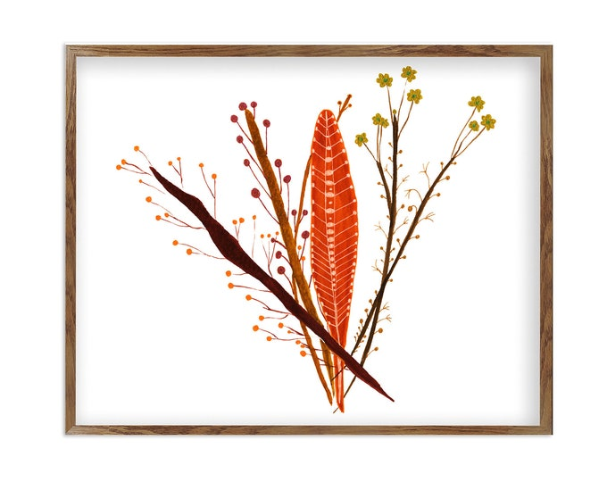 Watercolor Floral Bouquet, Wild Flowers Art Print, Southwestern art, Home Décor Farmhouse, Traditional Floral Still Life