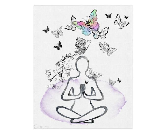 Yoga Poster, Yoga Woman Art, Female Line Art, Studio Wall Décor, Meditation Art, Meditation Art, Modern Wall Décor, Gift For Her